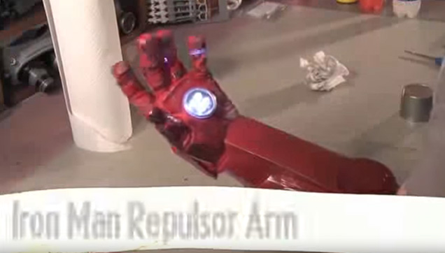 DIY Iron Man 2 Robot Repulsor Arm from Indy Mogul.