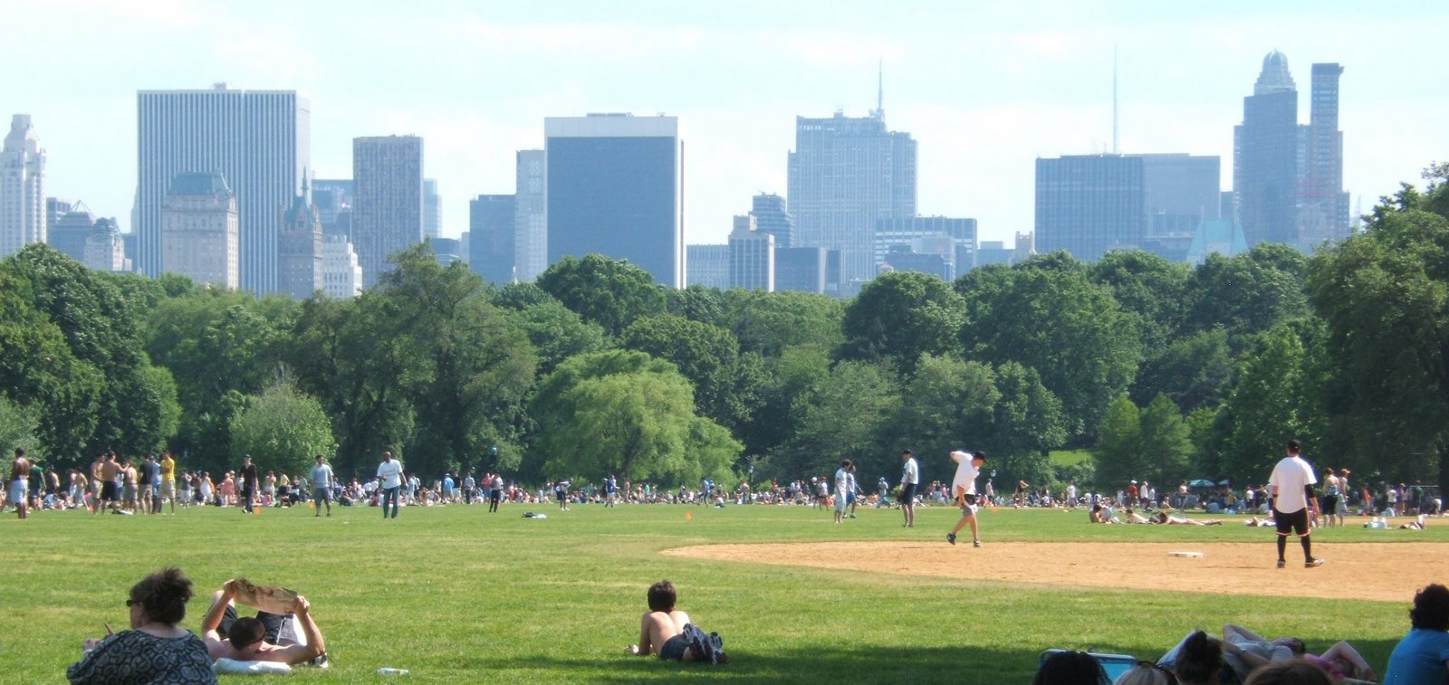 Central Park, New York ©2008 Tina M Welter  Spring and baseball games in the park.