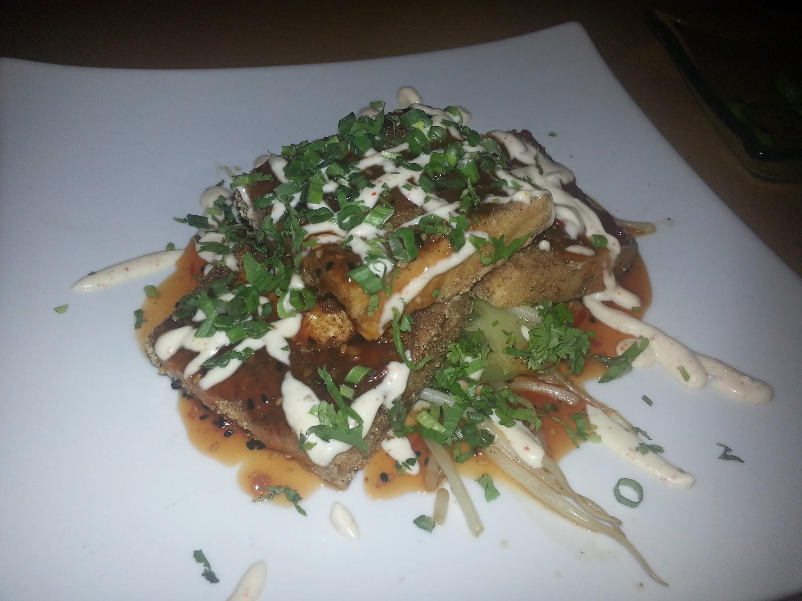 Crispy tofu (with bok choy, ginger, cilantro, sesame-chile sauce, bean ...