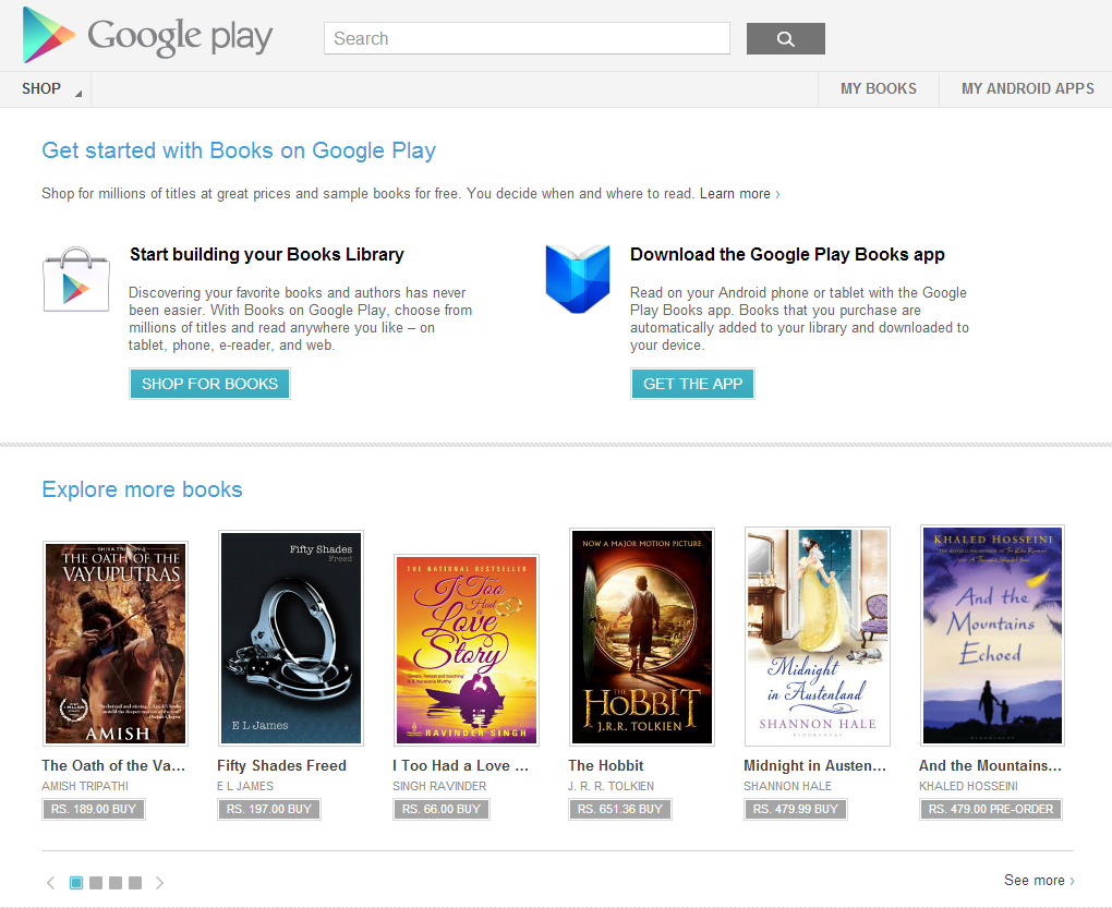 Books on Google Play arrives in India