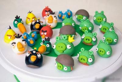 Bánh hình trong game Angry birds