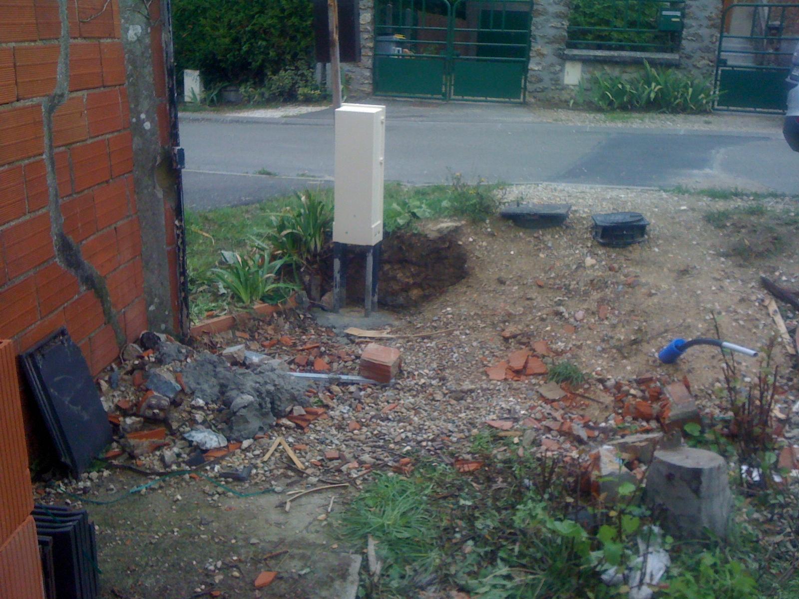 Faire construire ex cution de la dalle pose du compteur erdf et pose l 39 - Pose abri de jardin sur dalle ...