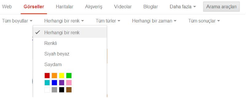 Google Görsel Arama Kullanımı