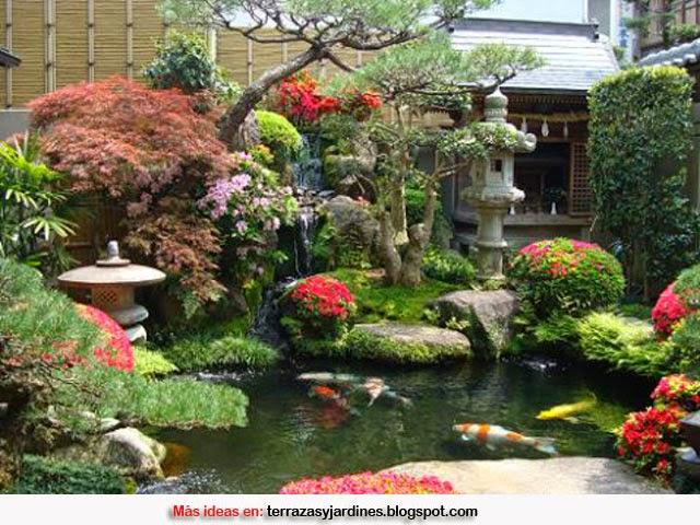 C mo decorar un jard n de estilo zen terrazas y jardines - Como adornar un jardin ...
