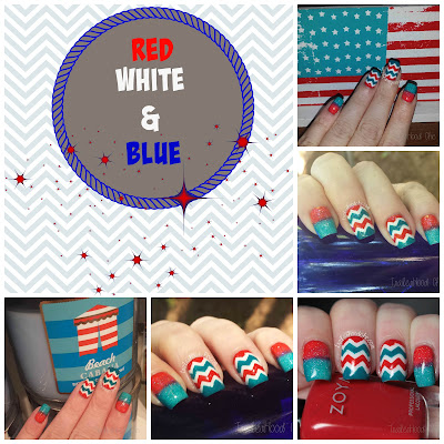 patriotic red white and blue nails zoya
