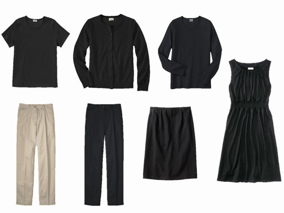 a core seven-piece neutral wardrobe