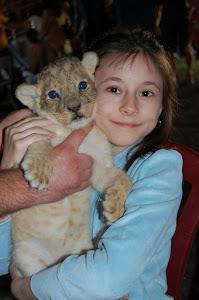 Ja z lwiątkiem gdy byłam dzieckiem