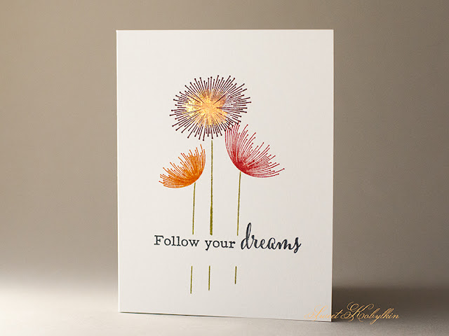 Encouragement Card with Dandelion Dreams from Clearly Besotted by Sweet Kobylkin