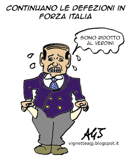 Verdini, Berlusconi, Forza Italia, satira vignetta