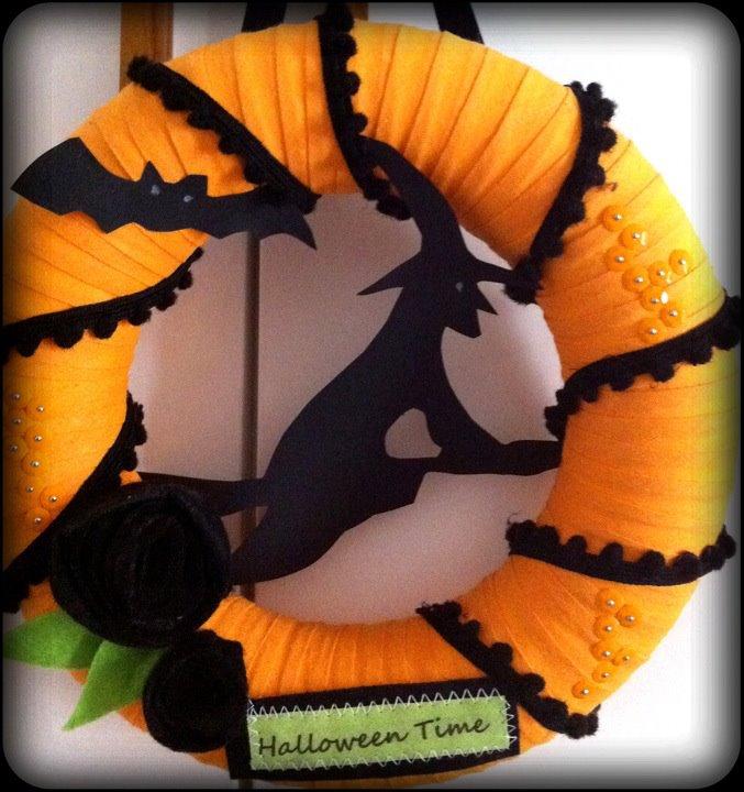 Paroledilatte Ghirlanda Decorazione Di Halloween Per Porta