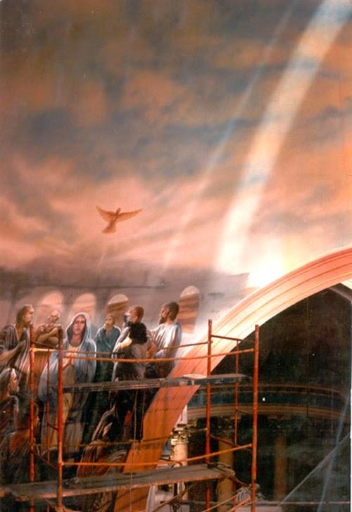 Pentecostes -Iglesia de la piedad  (oil )