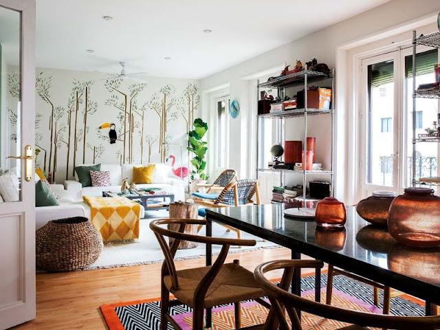 Casa con mucha mezcla en su decoración chicanddeco