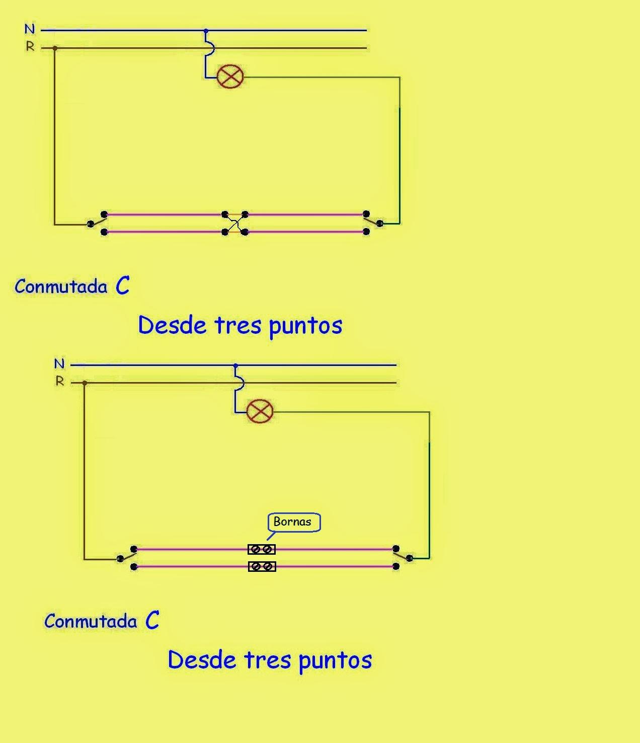 Interruptores y conmutadores esquemas electricos angelatedo - Interruptores para lamparas ...