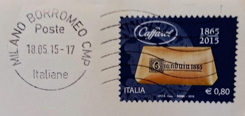 francobollo dedicato al Gianduia della Caffarel