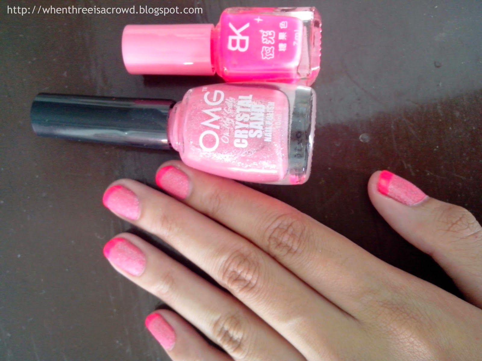 writing down my emotions: NOTD: French Pink