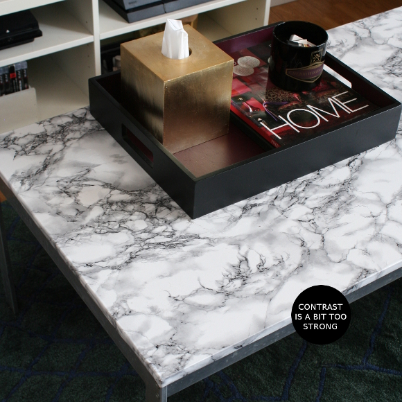 The Interior DIYer: DIY Friday - contact paper table top