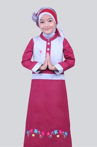 Desain Baju Muslim Gamis Anak Perempuan Cantik