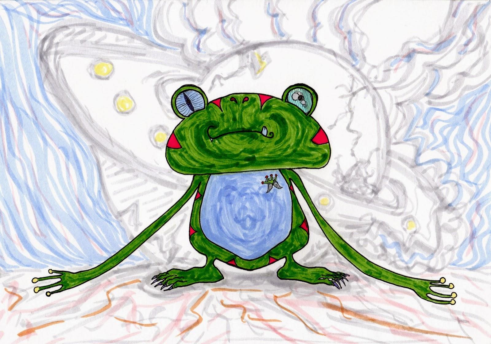カエルのような宇宙人 / Alien frog