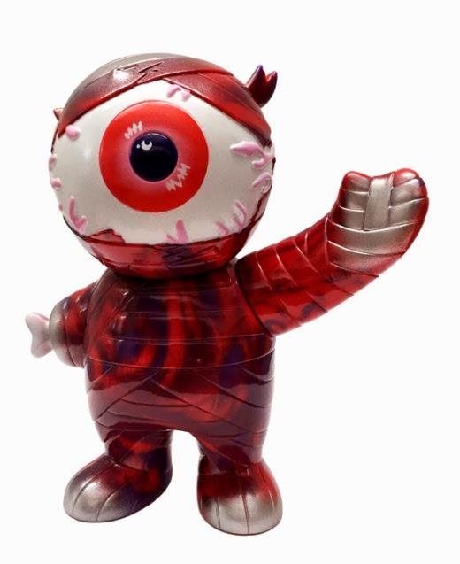 Red & Purple Swirled Keep Watch Mummy Boy Vinyl Figure by Super7 & Mishka