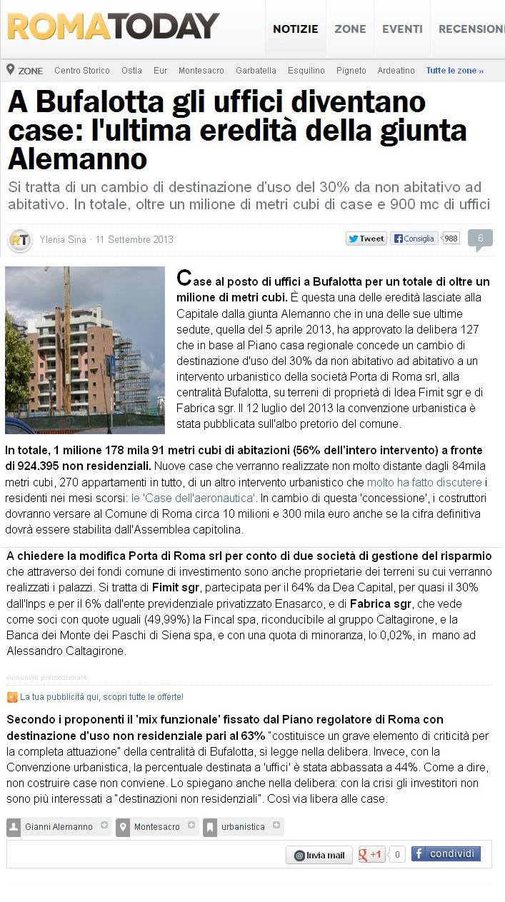 Tg roma talenti la giunta dell 39 ex sindaco alemanno ha for 5 case nuove di zecca