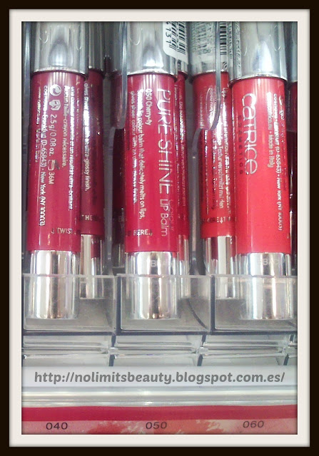 Catrice Pure Shine Colour Lip Balm - 040 My Cherry berry, 050 Cherry-ty, 060 Go Flamingo go!