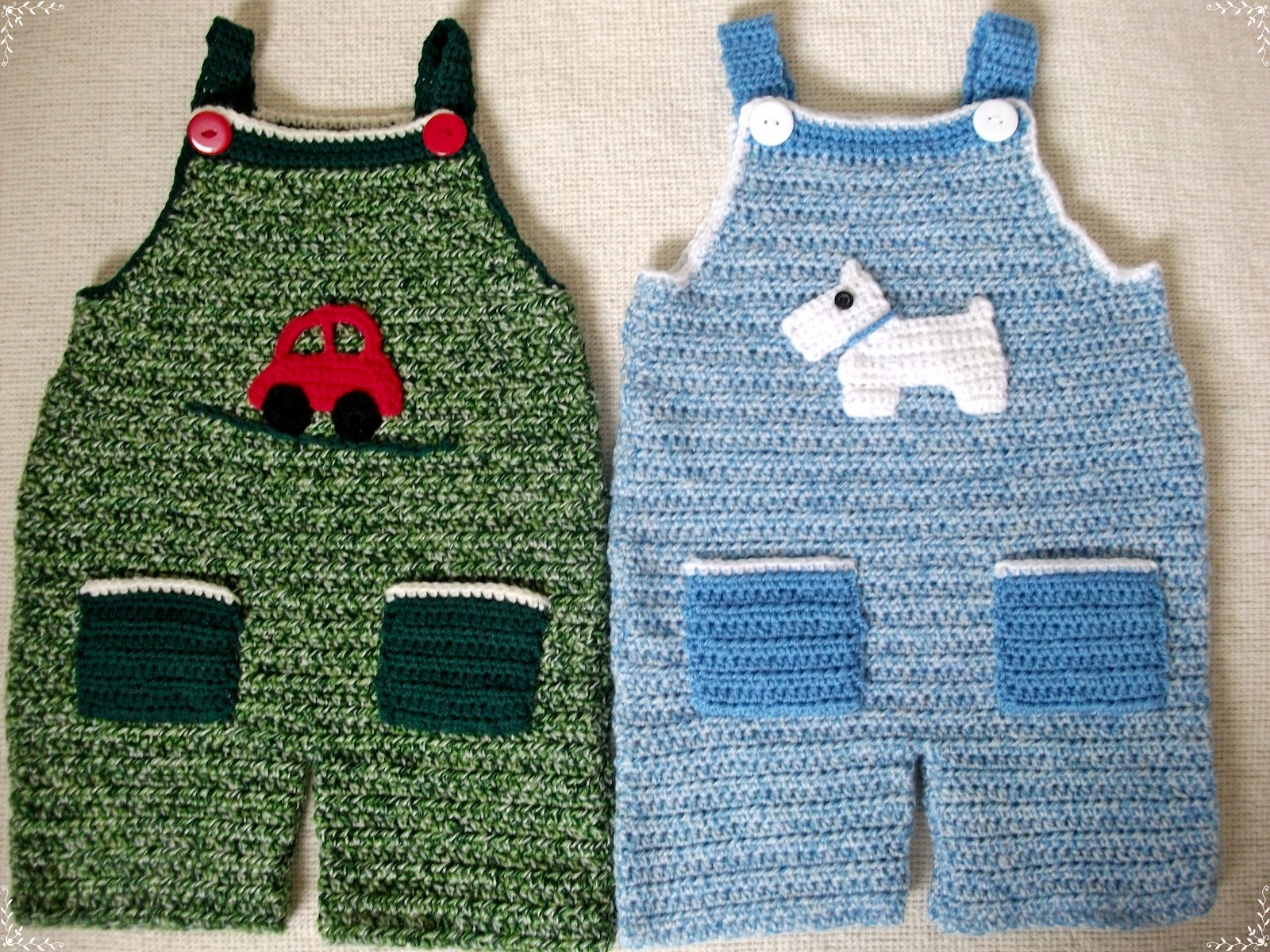 Crochet Baby Overall Patterns : .Lindas Crafty Corner: Crochet Dungaree Pattern