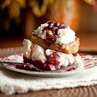 Pound Cake French Toast Stacks