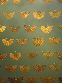 Gold Earrings in Museo del Oro