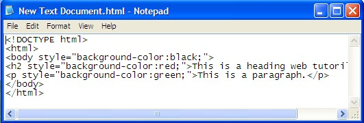 Sims notepad driverlayer search engine for Html code to change background color of page