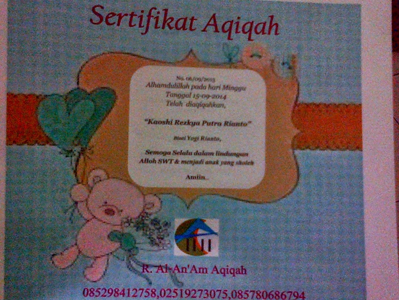 sertifikat cantik  dan lucu yang diberikan