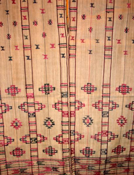 bhutanese textile antique silk vegetable dye shaman dress kishung