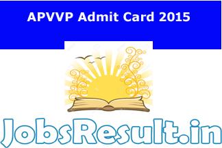 APVVP Admit Card 2015