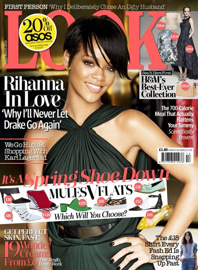 Rihanna en portada de la revista Look marzo 2014