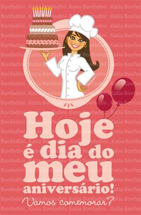 Ilustração e cartão para aniversário na LOJA DA BONFA