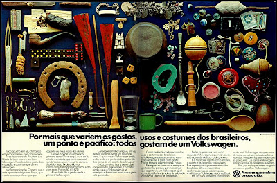 volkswagen.  reclame de carros anos 70. brazilian advertising cars in the 70. os anos 70. história da década de 70; Brazil in the 70s; propaganda carros anos 70; Oswaldo Hernandez;