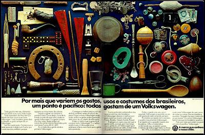 volkswagen.  reclame de carros anos 70. brazilian advertising cars in the 70. os anos 70. história da década de 70; Brazil in the 70s; propaganda carros anos 70; Oswaldo Hernandez;