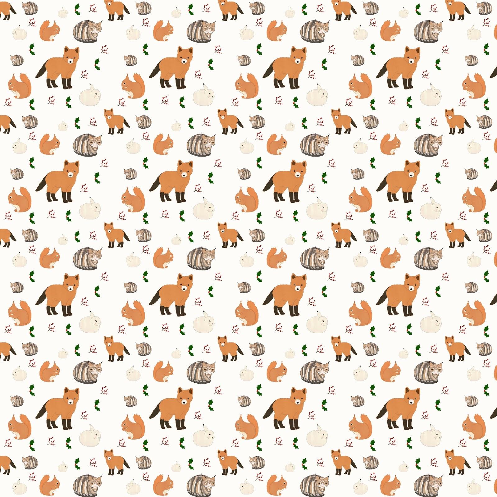 Carly watts art illustration winter animals pattern monday 9 december 2013 voltagebd Choice Image