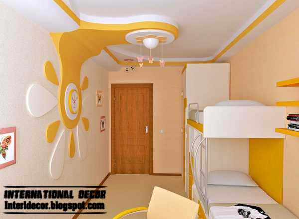 best creative kids room ceilings design ideas cool false ceiling with pop wall