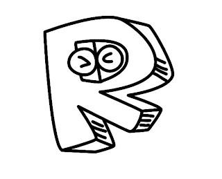 Alfabeto para colorir - Letra R colorir