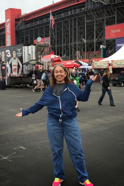 "#NASCAR Race Mom at the ""TreatMyClot.com 300"" Fontana, CA."