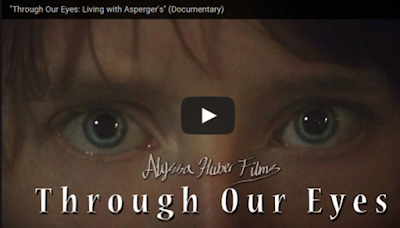 screen cap of blue eyes from Alyssa Huber's documentary, Through our Eyes: Living with Asperger's on OneQuarterMama.ca