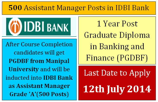 IDBI Bank Recruitment 2014