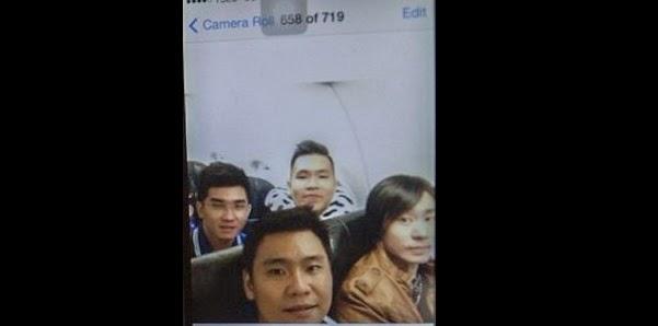 Sale a la luz el último 'selfie' de uno de los pasajeros a bordo del avión siniestrado de AirAsia