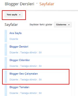 Blogger Dersleri - Blogger Sayfaları Etiketlere Yönlendirmek