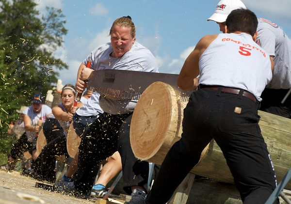 The World Lumberjack World Championship - Competition time