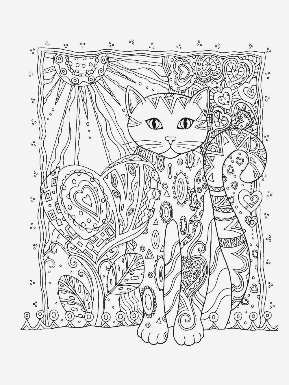 art therapy coloring pages cat - photo#8