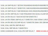 Soal Soal IPA SMP KTSP Kelas 7 Semester 2
