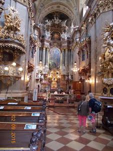 Internal baroque design of St Peters church