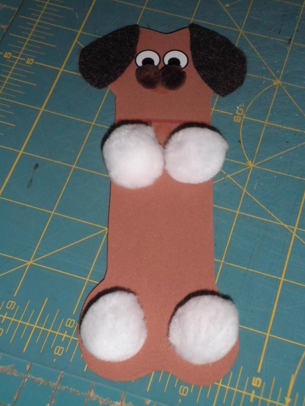 Miss tiff reads nursery rhyme crafts for Dog bone ornaments craft