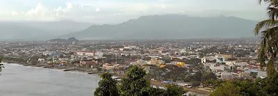 Panorama Kota Padang dari Gunung Padang